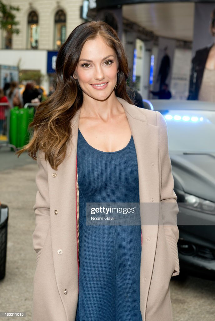 Actress Minka Kelly attends the Almost Human-(hattan) Experience in Herald Square on October 30, 2013 in New York City.