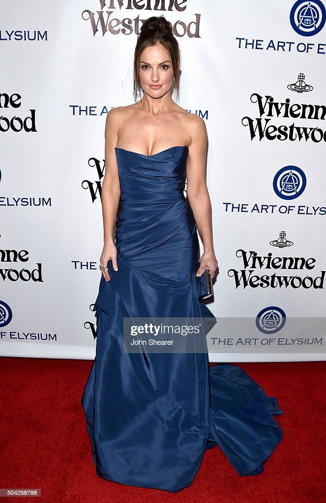 Actress Minka Kelly attends The Art of Elysium 2016 HEAVEN Gala presented by Vivienne Westwood Andreas Kronthaler at 3LABS on January 9 2016 in...