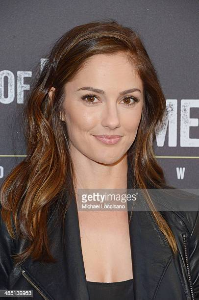Actress Minka Kelly attends the Broadway opening night for 'Of Mice and Men' at Longacre Theatre on April 16 2014 in New York City