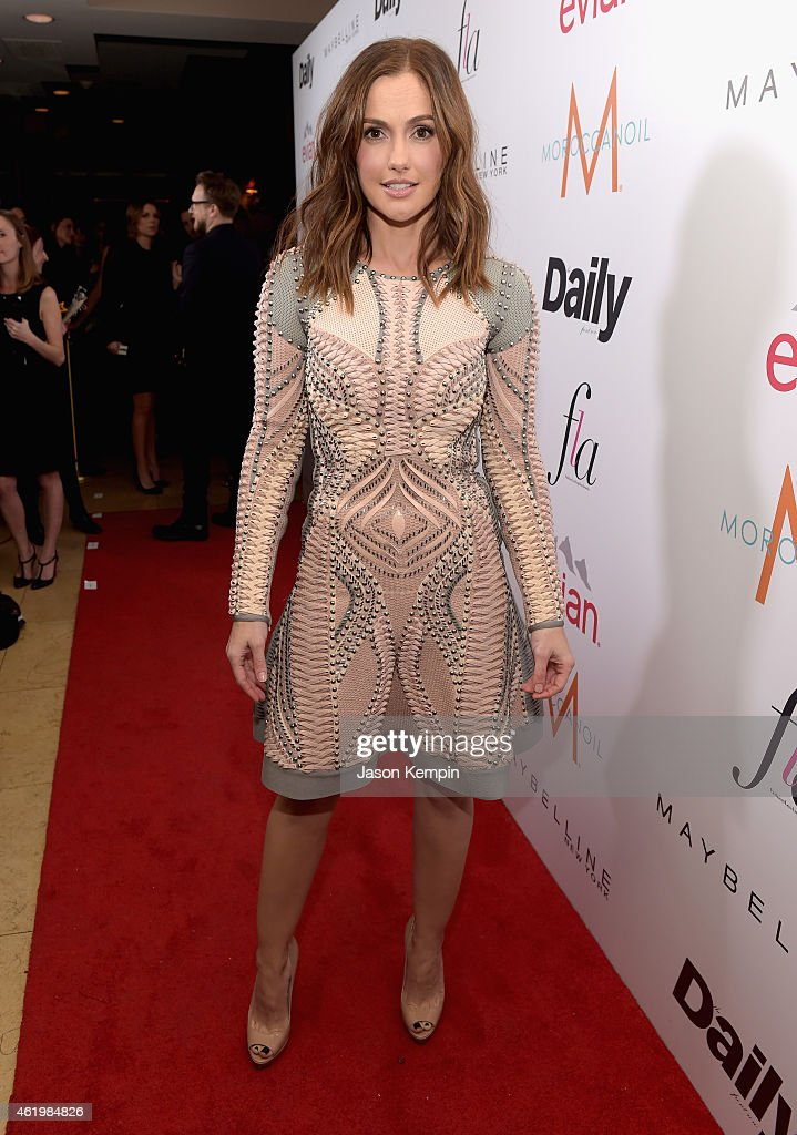 Actress Minka Kelly attends The DAILY FRONT ROW 'Fashion Los Angeles Awards' Show at Sunset Tower on January 22 2015 in West Hollywood California