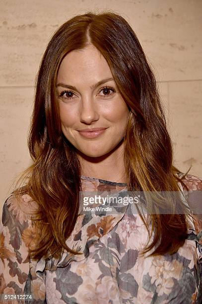 Actress Minka Kelly attends The Dinner For Equality cohosted by Patricia Arquette and Marc Benioff on February 25 2016 in Beverly Hills California