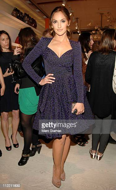 Actress Minka Kelly attends the Grand Opening Of Folli Follie Soho Benefiting the Art Of Elysium on April 14 2011 in New York City