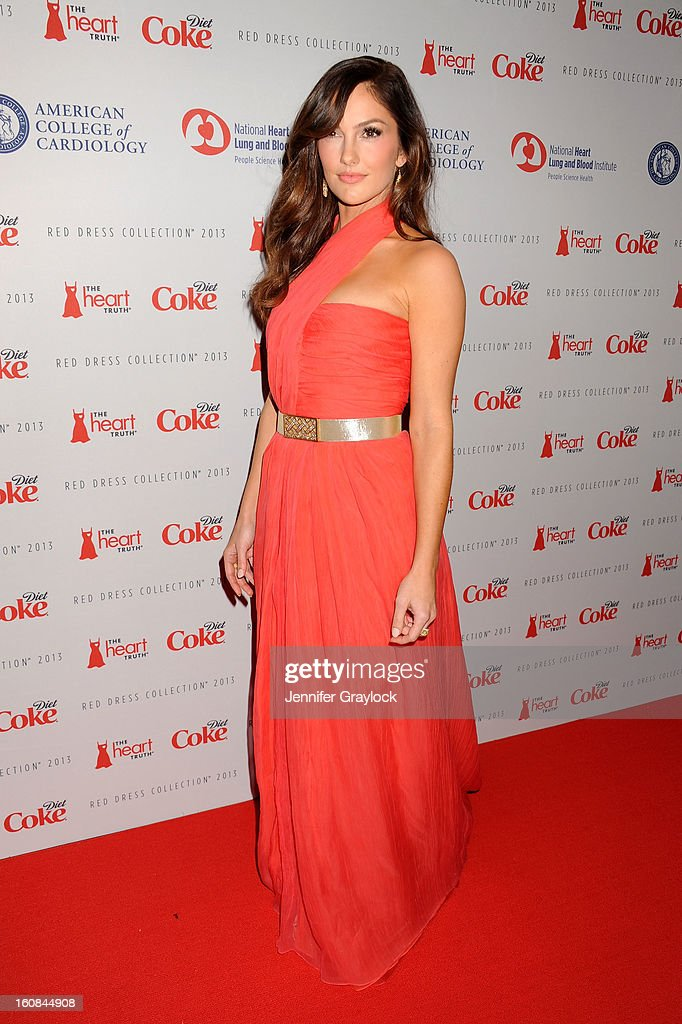 Actress <a gi-track='captionPersonalityLinkClicked' href=/galleries/search?phrase=Minka+Kelly&family=editorial&specificpeople=632847 ng-click='$event.stopPropagation()'>Minka Kelly</a> attends The Heart Truth 2013 Fashion at Hammerstein Ballroom on February 6, 2013 in New York City.