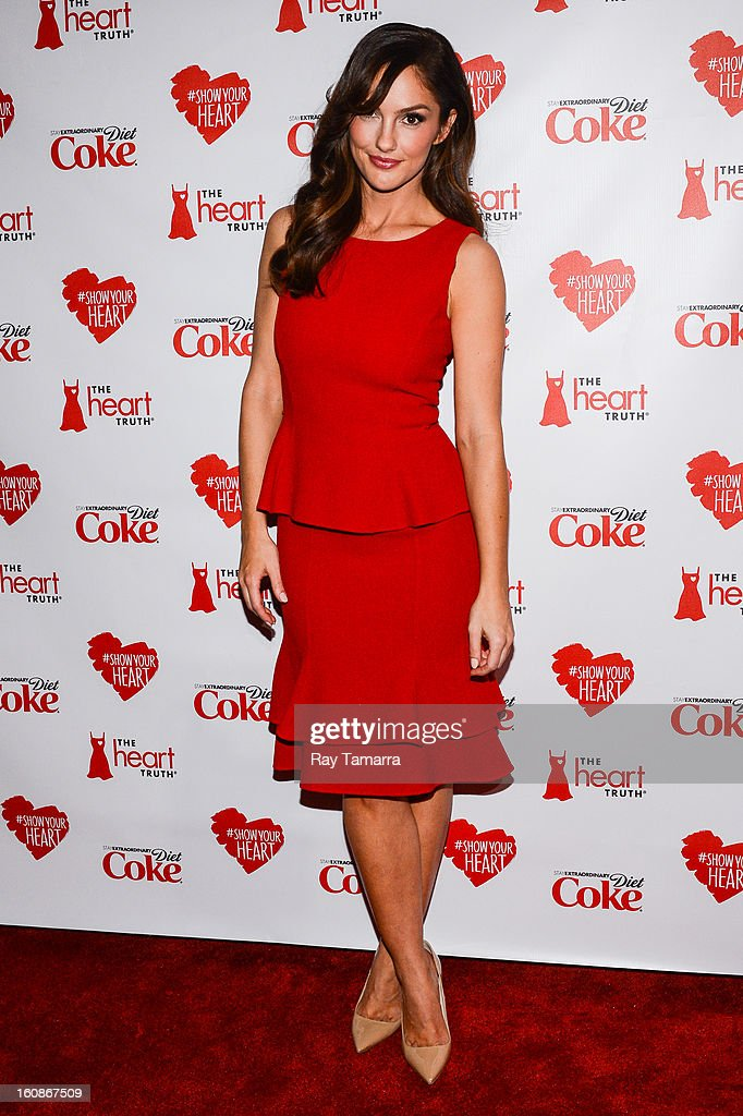 Actress <a gi-track='captionPersonalityLinkClicked' href=/galleries/search?phrase=Minka+Kelly&family=editorial&specificpeople=632847 ng-click='$event.stopPropagation()'>Minka Kelly</a> attends The Heart Truth's Red Dress Collection Fall 2013 Mercedes-Benz Fashion Show at 499 Seventh Avenue on February 6, 2013 in New York City.