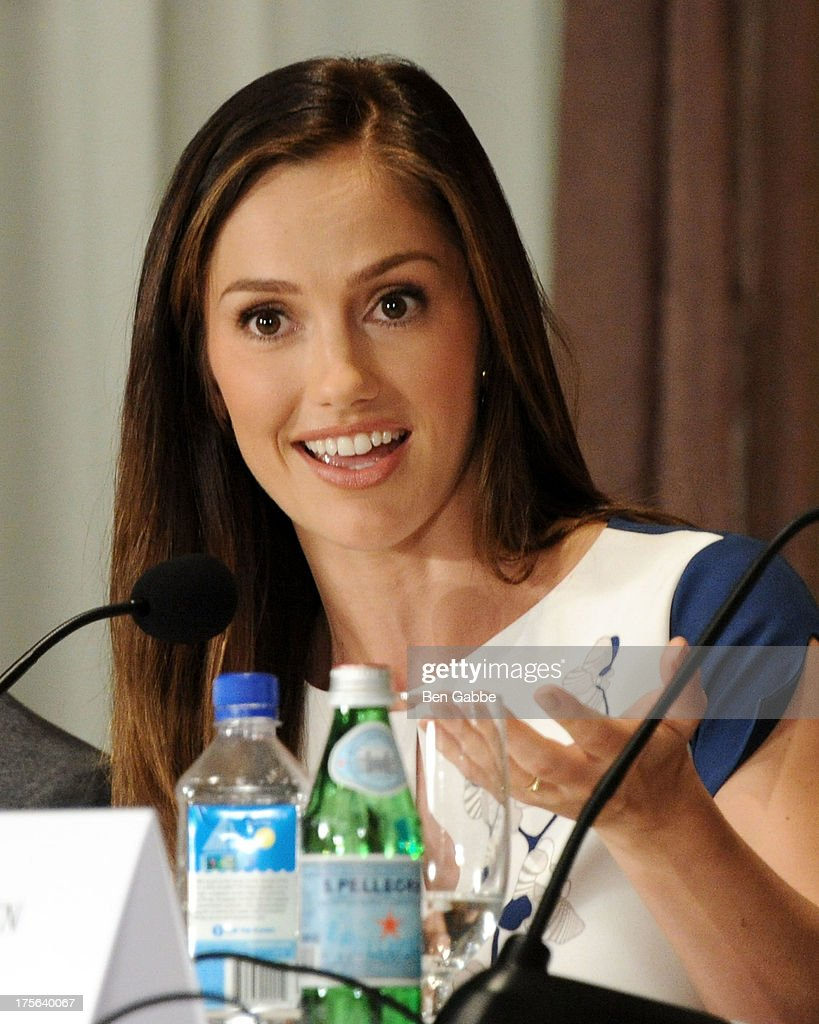 Actress Minka Kelly attends the press conference for The Weinstein Company's LEE DANIELS' THE BUTLER at Waldorf Astoria Hotel on August 5, 2013 in New York City.