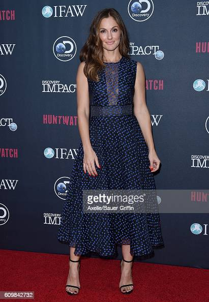 Actress Minka Kelly attends the screening of Discovery Impact's 'Huntwatch' at NeueHouse Hollywood on September 15 2016 in Los Angeles California