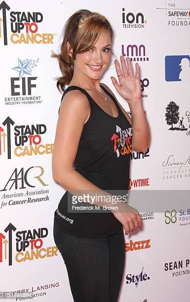 Actress Minka Kelly attends the Stand Up To Cancer benefit at The Shrine Auditorium on September 7 2012 in Los Angeles California