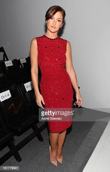 Actress Minka Kelly attends TRESemme at Jenny Packham Spring 2013 MercedesBenz Fashion Week at The Studio at Lincoln Center on September 11 2012 in...