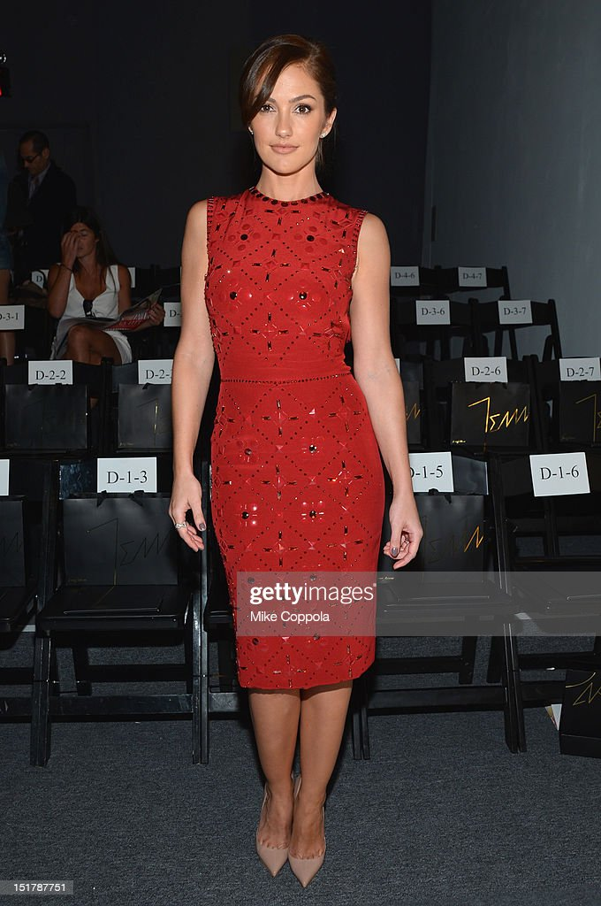 Actress Minka Kelly attends TRESemme at Jenny Packham Spring 2013 Mercedes-Benz Fashion Week at The Studio at Lincoln Center on September 11, 2012 in New York City.