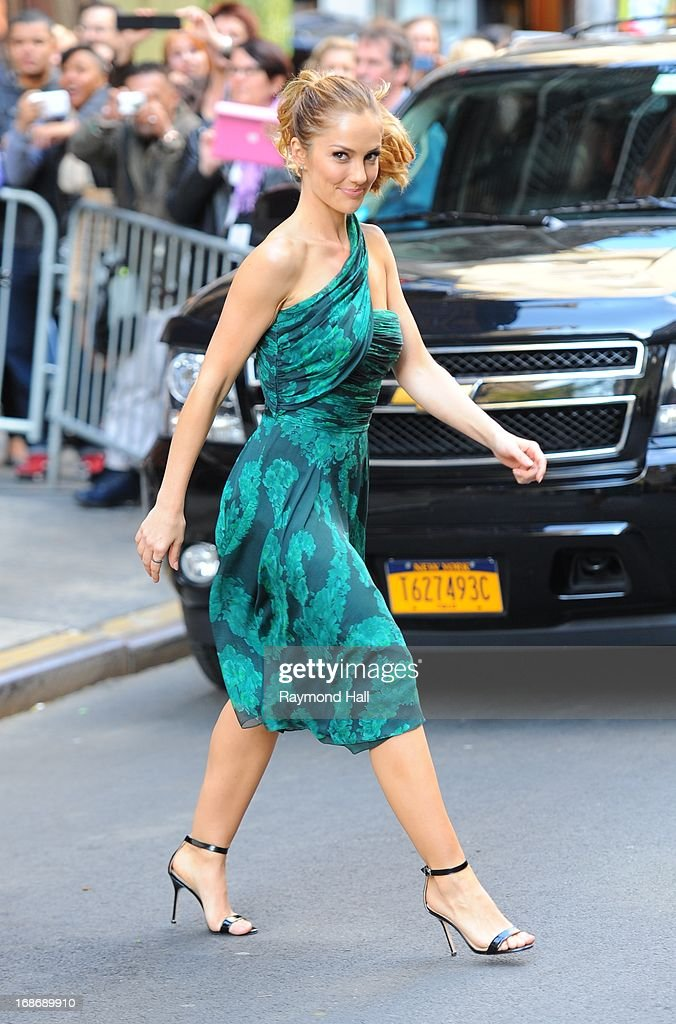 Actress Minka Kelly is seen outside 'Citrus Bar & Grill'on May 13, 2013 in New York City.