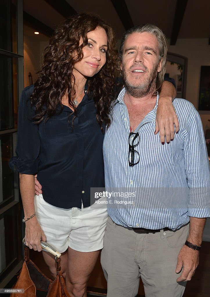 Actress <a gi-track='captionPersonalityLinkClicked' href=/galleries/search?phrase=Minnie+Driver&family=editorial&specificpeople=201884 ng-click='$event.stopPropagation()'>Minnie Driver</a> and author Kevin Morris attend Kevin Morris' 'White Man's Problem' book release party on June 3, 2014 in Los Angeles, California.