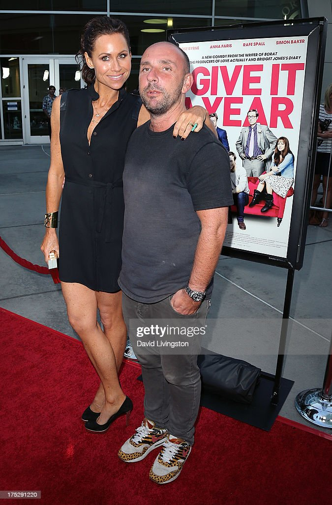 Actress Minnie Driver (L) and director Dan Mazer attend a screening of Magnolia Pictures' 'I Give It a Year' at ArcLight Hollywood on August 1, 2013 in Hollywood, California.