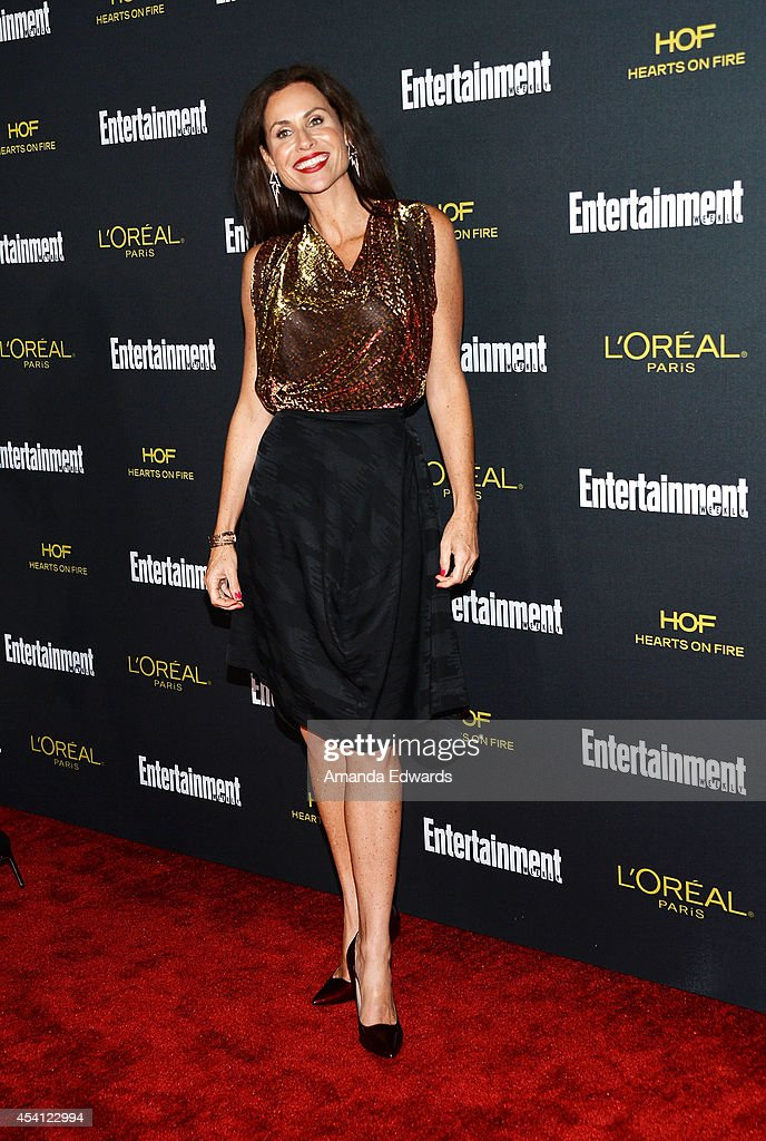 Actress Minnie Driver arrives at the 2014 Entertainment Weekly Pre-Emmy Party at Fig & Olive Melrose Place on August 23, 2014 in West Hollywood, California.