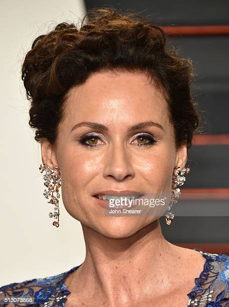 Actress Minnie Driver arrives at the 2016 Vanity Fair Oscar Party Hosted By Graydon Carter at Wallis Annenberg Center for the Performing Arts on...