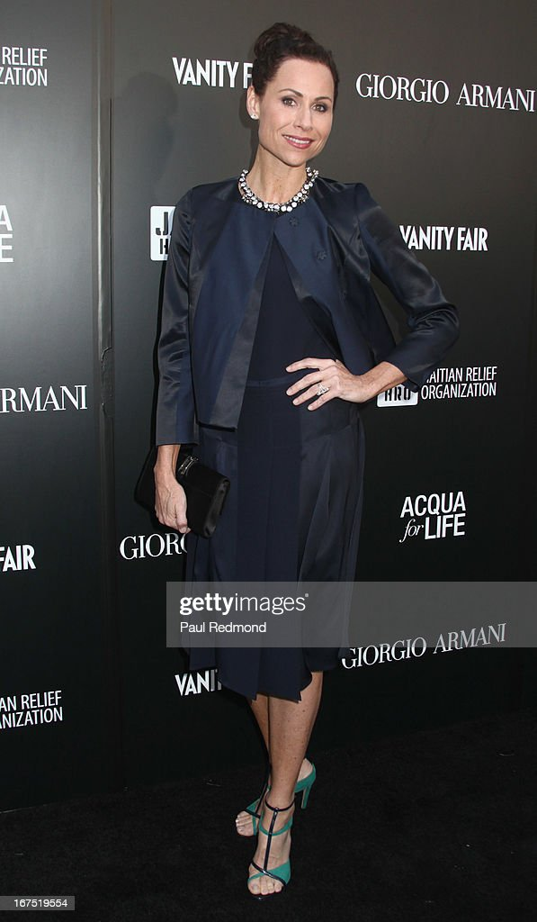 Actress <a gi-track='captionPersonalityLinkClicked' href=/galleries/search?phrase=Minnie+Driver&family=editorial&specificpeople=201884 ng-click='$event.stopPropagation()'>Minnie Driver</a> arrives at the Armani party during Paris Photo LA - Opening Night at Paramount Studios on April 25, 2013 in Hollywood, California.