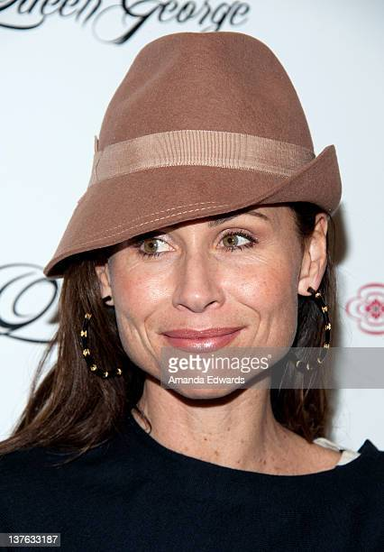 Actress Minnie Driver arrives at the launch of actress Jodi Lyn O'Keefe's new jewelry collection 'Q' at Dari Boutique on January 23 2012 in Studio...