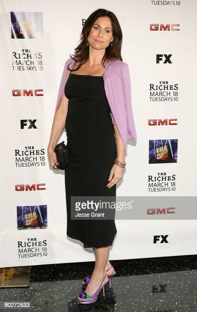 Actress Minnie Driver arrives at The Riches season two premiere screening at the Pacific Design Center on March 16 2008 in West Hollywood California