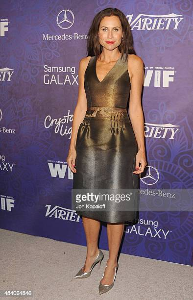 Actress Minnie Driver arrives at Variety And Women In Film Annual PreEmmy Celebration at Gracias Madre on August 23 2014 in West Hollywood California