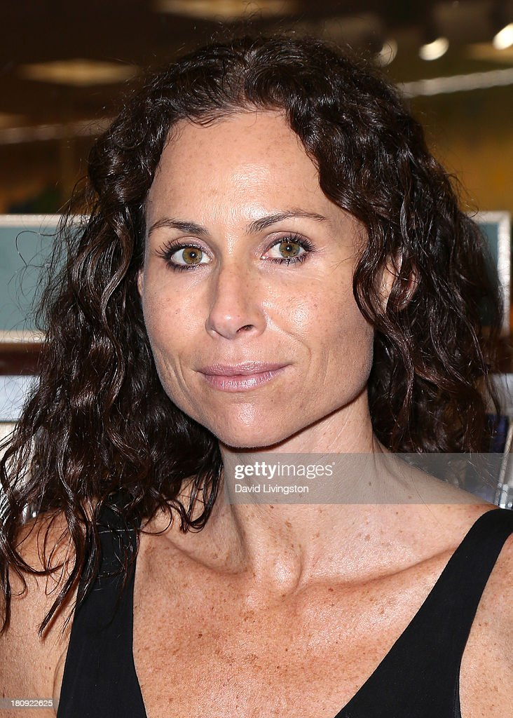 Actress Minnie Driver attends a signing for Charity Gaye Finnestad's book 'Hollywood in Heels' at Barnes & Noble bookstore at The Grove on September 17, 2013 in Los Angeles, California.