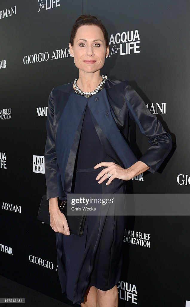 Actress <a gi-track='captionPersonalityLinkClicked' href=/galleries/search?phrase=Minnie+Driver&family=editorial&specificpeople=201884 ng-click='$event.stopPropagation()'>Minnie Driver</a> attends Giorgio Armani Paris Photo LA Acqua #3 at Paramount Studios on April 25, 2013 in Los Angeles, California.