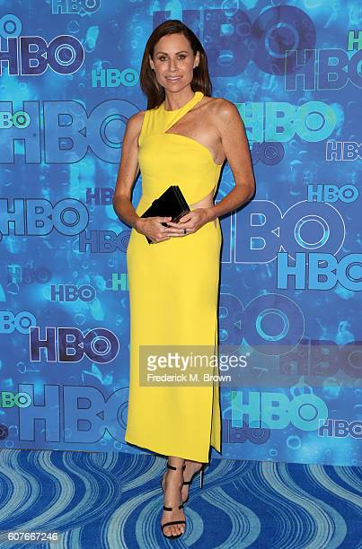 Actress Minnie Driver attends HBO's Official 2016 Emmy After Party at The Plaza at the Pacific Design Center on September 18 2016 in Los Angeles...