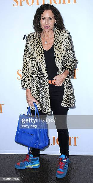 Actress Minnie Driver attends screening of Open Road Films' 'Spotlight' at the DGA Theater on November 3 2015 in Los Angeles California