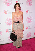 Actress Minnie Driver attends the 2nd annual 'Pretty In Pink' luncheon and 'Women Of Strength Awards' at The Four Seasons Hotel Los Angeles at...
