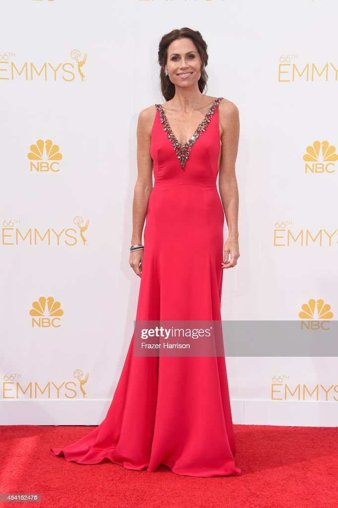 Actress Minnie Driver attends the 66th Annual Primetime Emmy Awards held at Nokia Theatre LA Live on August 25 2014 in Los Angeles California