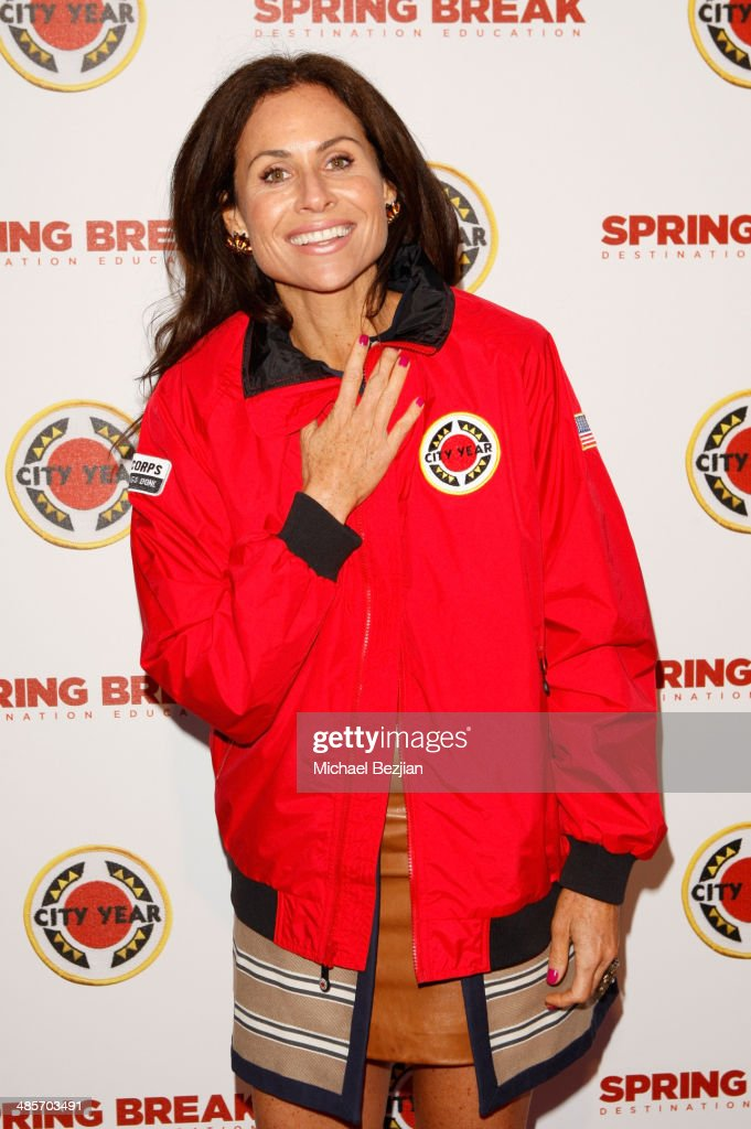 Actress <a gi-track='captionPersonalityLinkClicked' href=/galleries/search?phrase=Minnie+Driver&family=editorial&specificpeople=201884 ng-click='$event.stopPropagation()'>Minnie Driver</a> attends the City Year Los Angeles 'Spring Break' Fundraiser at Sony Studios on April 19, 2014 in Los Angeles, California.
