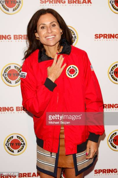 Actress Minnie Driver attends the City Year Los Angeles 'Spring Break' Fundraiser at Sony Studios on April 19 2014 in Los Angeles California
