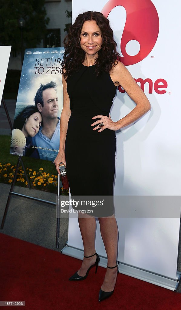 Actress <a gi-track='captionPersonalityLinkClicked' href=/galleries/search?phrase=Minnie+Driver&family=editorial&specificpeople=201884 ng-click='$event.stopPropagation()'>Minnie Driver</a> attends the premiere of Lifetime Television's 'Return to Zero' at the Paramount Theater on the Paramount Studios lot on May 1, 2014 in Hollywood, California.
