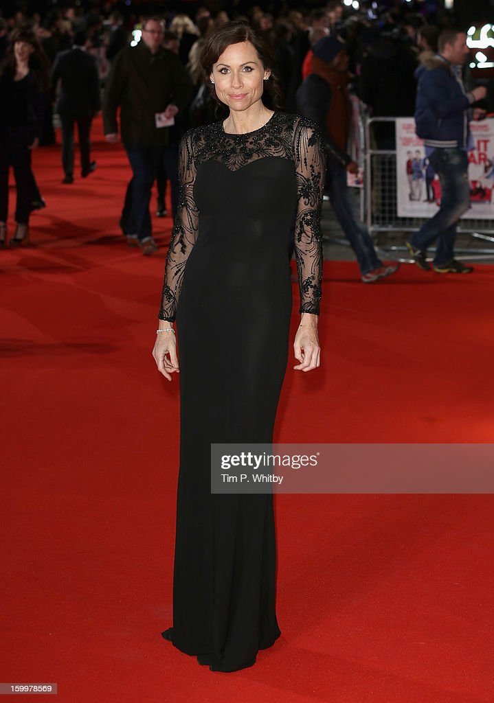 Actress Minnie Driver attends the UK Premiere of 'I Give It A Year' at the Vue West End on January 24, 2013 in London, England.
