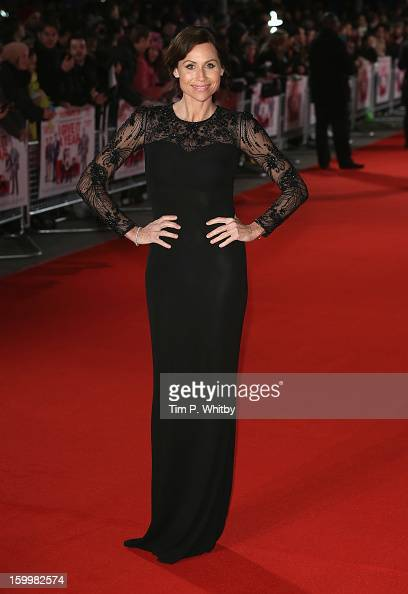 Actress Minnie Driver attends the UK Premiere of 'I Give It A Year' at the Vue West End on January 24 2013 in London England