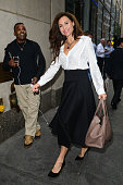 Actress Minnie Driver enters the 'Today Show' taping at the NBC Rockefeller Center Studios on October 15 2014 in New York City