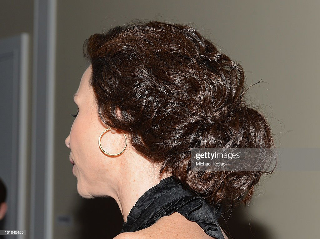 Actress Minnie Driver (hair detail) joins Conde Nast Traveler as they celebrate The Leading Hotels Of The World 85th Anniversary at Mr. C Beverly Hills on February 13, 2013 in Beverly Hills, California.