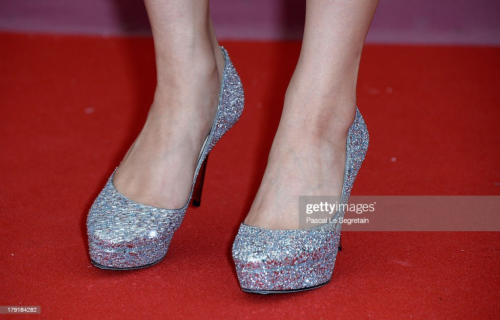 Actress Miori Takimoto (shoe detail) attends 'The Wind Rises' Photocall during the 70th Venice International Film Festival at the Palazzo del Casino on September 1, 2013 in Venice, Italy.