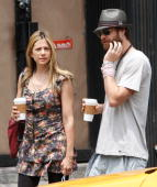 Actress Mira Sorvino and husband Christopher Backus are seen walking in the west village on June 13 2010 in New York New York