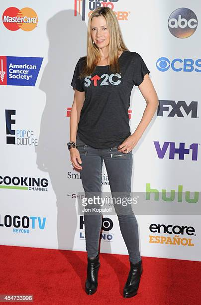 Actress Mira Sorvino arrives at Hollywood Unites For The 4th Biennial Stand Up To Cancer A Program Of The Entertainment Industry Foundation at Dolby...