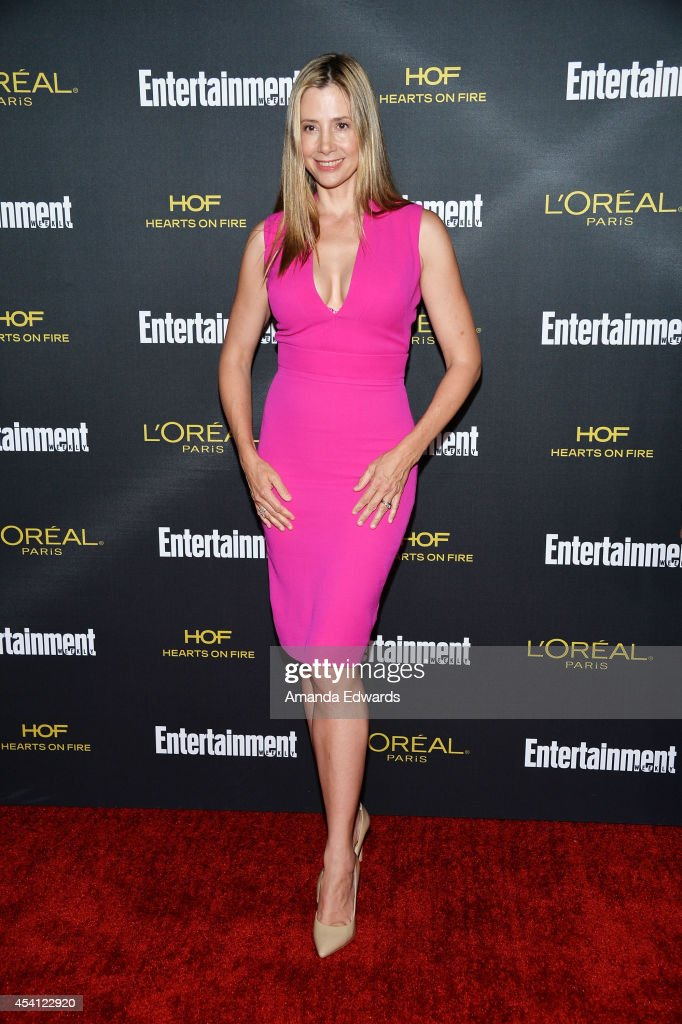 Actress Mira Sorvino arrives at the 2014 Entertainment Weekly Pre-Emmy Party at Fig & Olive Melrose Place on August 23, 2014 in West Hollywood, California.