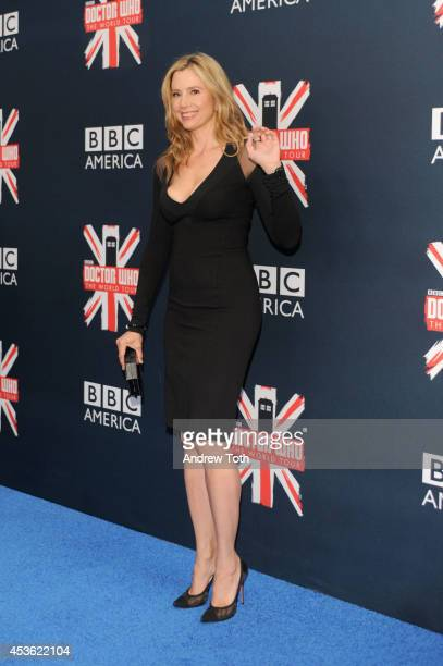 Actress Mira Sorvino attends BBC America's 'Doctor Who' Premiere Fan Screening at Ziegfeld Theater on August 14 2014 in New York City