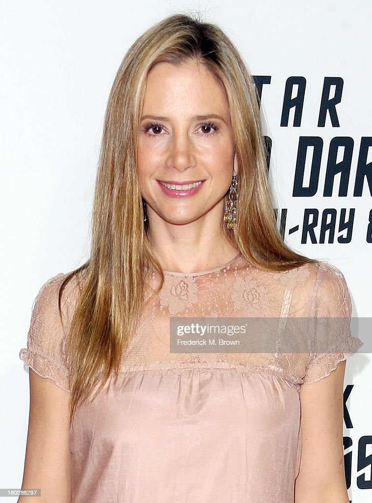 Actress Mira Sorvino attends 'Star Trek Into Darkness' Blu-ray/DVD Release Event at the California Science Center on September 10, 2013 in Los Angeles, California.