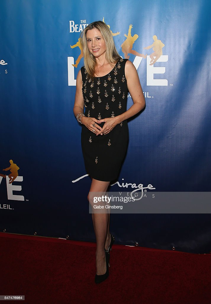 Actress Mira Sorvino attends the 10th anniversary celebration of 'The Beatles LOVE by Cirque du Soleil' at The Mirage Hotel & Casino on July 14, 2016 in Las Vegas, Nevada.