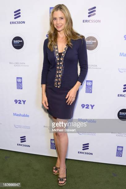 Actress Mira Sorvino attends the 2012 Social Good Summit at the 92Y on September 23 2012 in New York City