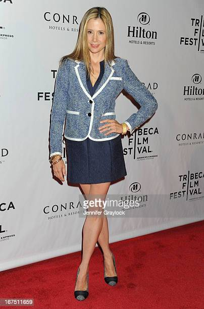 Actress Mira Sorvino attends the 2013 Tribeca Film Festival awards at The Conrad New York on April 25 2013 in New York City