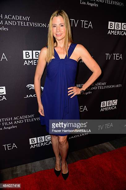 Actress Mira Sorvino attends the 2014 BAFTA Los Angeles TV Tea presented by BBC America And Jaguar at SLS Hotel on August 23 2014 in Beverly Hills...