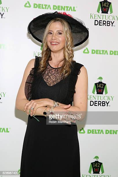 Actress Mira Sorvino attends the Delta Dental Celebrity Green Room during the 142nd Kentucky Derby at Churchill Downs on May 7 2016 in Louisville...