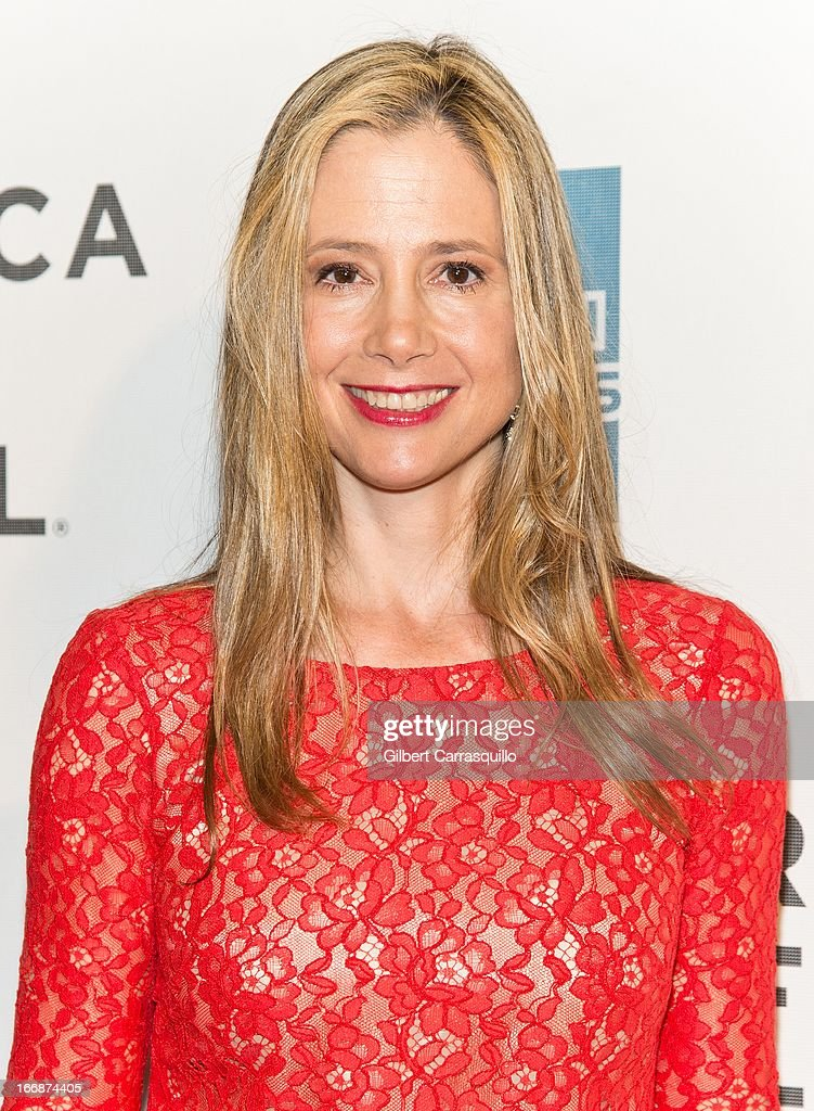 Actress Mira Sorvino attends the 'Mistaken for Strangers' premiere during the opening night of the 2013 Tribeca Film Festival at BMCC Tribeca PAC on April 17, 2013 in New York City.