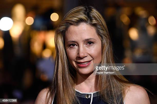 Actress Mira Sorvino attends the premiere of Disney's 'Big Hero 6' at the El Capitan Theatre on November 4 2014 in Hollywood California