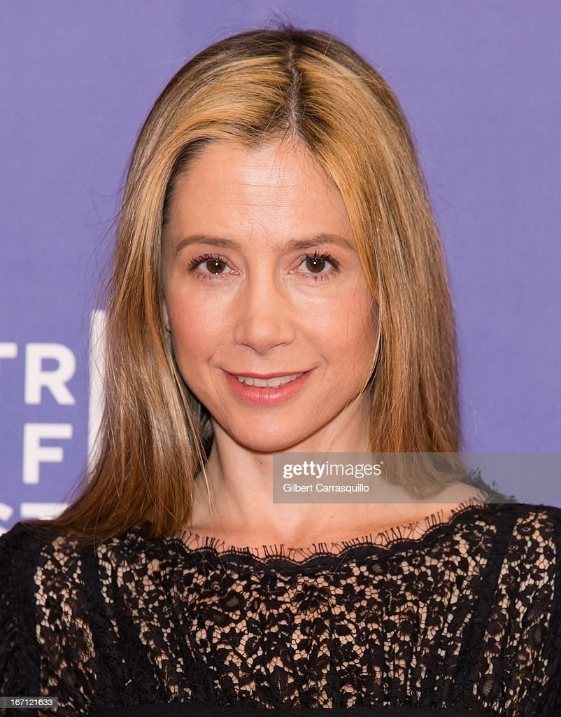 Actress Mira Sorvino attends the screening of 'I Got Somethin' to Tell You' during the 2013 Tribeca Film Festival at SVA Theater on April 20, 2013 in New York City.