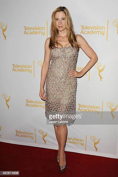 Actress Mira Sorvino attends the Television Academy's performers peer group celebrating the 66th Emmy Awards at Montage Beverly Hills on July 28 2014...